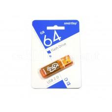 USB флеш-накопитель 64Gb SmartBuy Glossy series Orange
