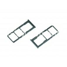 Контейнер SIM+MMC Samsung A515F/A715F чёрный