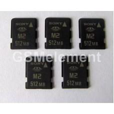 Карта памяти Memory Stick Micro (M2) 512Mb оригинал в техпаке