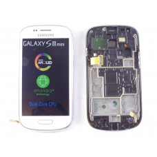 Дисплей Samsung i8190 Galaxy S3 mini с тачскрином (White) на передней панели, оригинал
