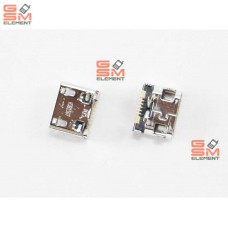 Разъем системный Samsung S5300/S6102/S6802/S6012/C3262/C3312/B5330/i8750/i9070 (micro USB) оригинал