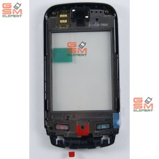 Тачскрин Nokia C2-03/C2-02/C2-06/C2-07/C2-08 (Chrome Black) на передней панели с динамиком, оригинал
