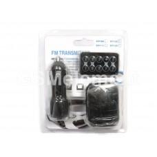 FM-модулятор Car ST712D (microSD/SD/USB/пульт) чёрный (в бело-синем блистере)