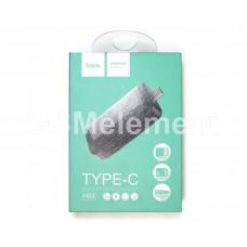 Кардридер Hoco HB4, microSD/SDHC, USB 3.0, Type-C чёрно-серебряный