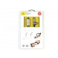 USB датакабель 5 в 1 для Apple 8 pin/Type-C/micro USB/USB/OTG Baseus CA5IN1-0V (1.0m) чёрно-золотой