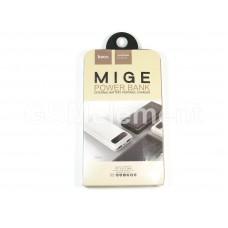 Внешний аккумулятор Hoco B20A 20000 mAh (2 USB выхода 2,1A, дисплей, фонарь) белый