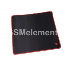 Коврик для мыши Defender Black XXL, резина, чёрный с красным (400x355x3mm)