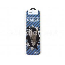 USB датакабель 3 в 1 для Apple 8 pin/Type-C/micro USB Hoco U24 Refined (2.1A/ 1.0 m) силикон, серый