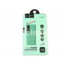 Внешний аккумулятор Hoco B27 PuSi 15000 mAh (2 USB выхода 2.1 A, дисплей, фонарь), голубой