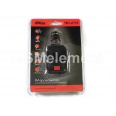 FM-модулятор Ritmix, FMT-A745 (micrоSD/AUX/USB) чёрный