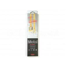 USB датакабель micro USB Remax Platinum RC-044m (1,0 m) (2.1A) силикон, золотой