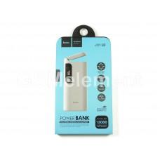 Внешний аккумулятор Hoco B27 PuSi 15000 mAh (2 USB выхода 2.1 A, дисплей, фонарь), белый