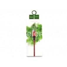 USB датакабель micro USB Hoco X14 Times speed (2.0 m/ 2.1A) в переплете, красный