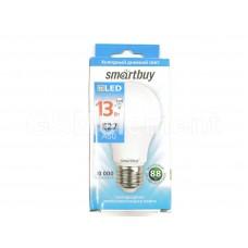 Лампа светодиодная SmartBuy A60, E27, 13Вт/220-240В/6000К (холодный свет)