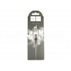 USB датакабель для Apple 8 pin Hoco X14 Times speed (1,0 m) (2.1A) в переплете, чёрный