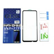 Защитное стекло для Samsung SM-A205F/A305F/A307F/A505F (A20/A30/A30s/A50) полное покрытие 5D, чёрный