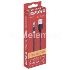 USB датакабель micro USB Exployd EX-K-782, магнитный, в оплётке, чёрный