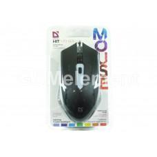 Мышь оптическая проводная Defender Hit, MB-601, 4 кн., подсветка, чёрный
