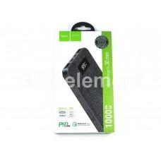 Внешний аккумулятор Hoco J47 10000 mAh (2 USB/ micro + Type-C/ индикатор/QC 3.0), черный