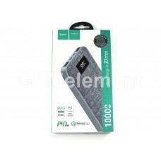 Внешний аккумулятор Hoco J47 10000 mAh (2 USB/ micro + Type-C/ индикатор/QC 3.0), серый