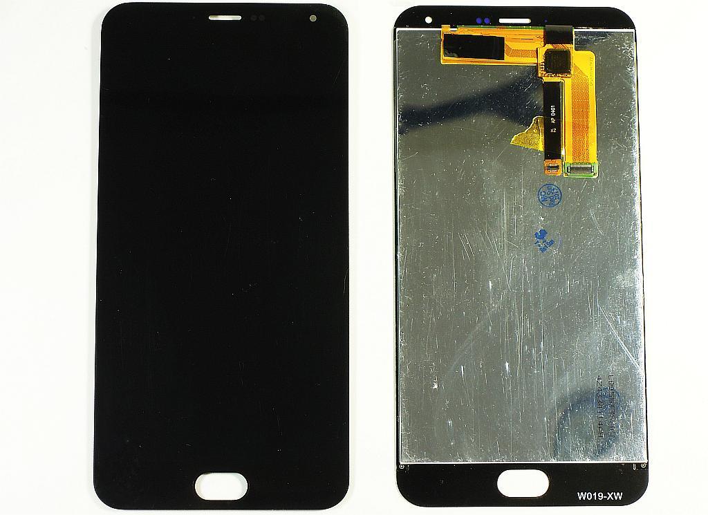 Дисплей Meizu M2 Note в сборе с тачскрином чёрный