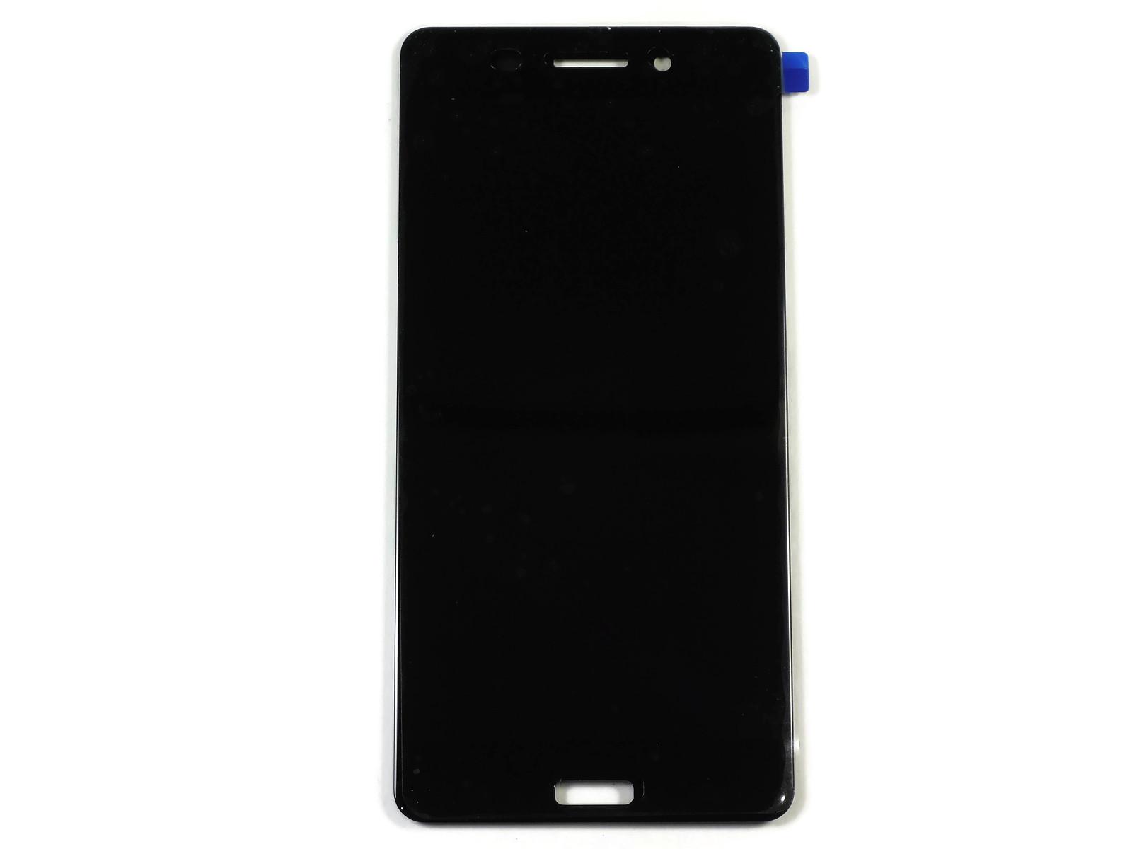 Дисплей Nokia 6 (TA-1021) в сборе с тачскрином чёрный, оригинал