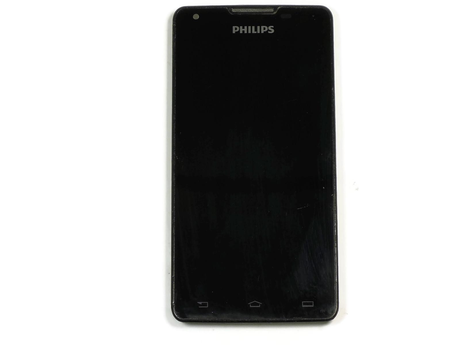 Дисплей Philips W6610 модуль в сборе чёрный, оригинал used