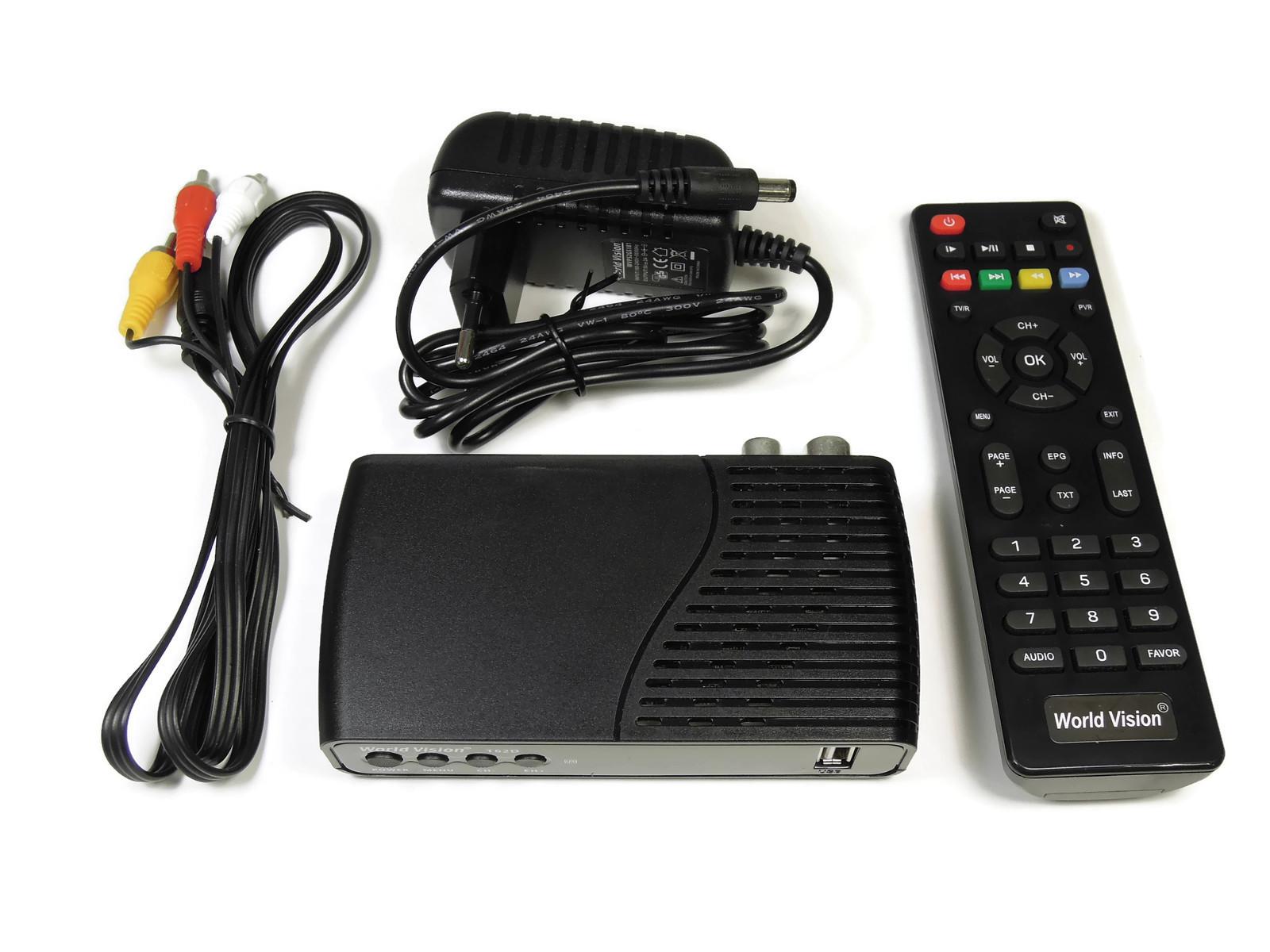 ТВ-приставка цифровая World Vision T62D (DVB-T2)