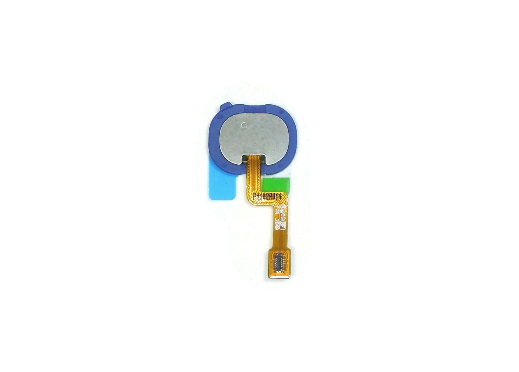 Шлейф Samsung A217F (A21S) на кнопку HOME в сборе, синий, оригинал