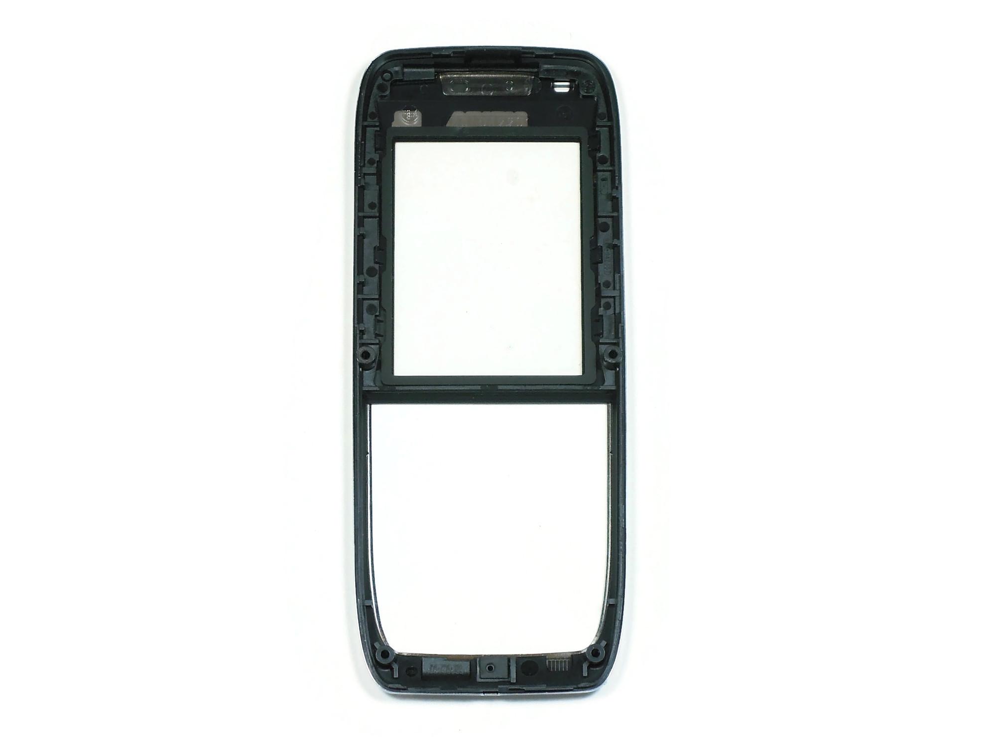 Передняя панель корпуса Nokia E51 (Black/Chrome) с защитным стеклом оригинал 100%