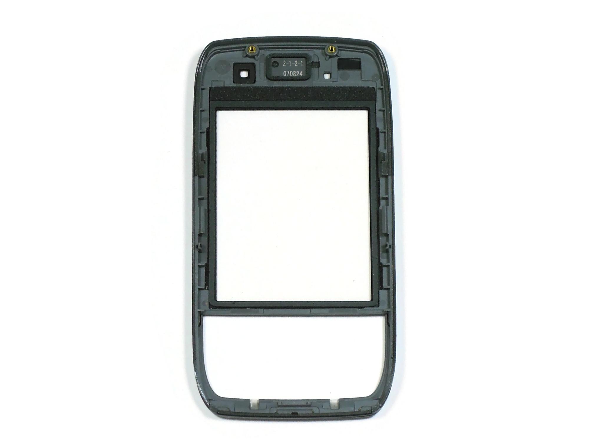 Передняя панель корпуса Nokia E66 (Black) с защитным стеклом оригинал 100%
